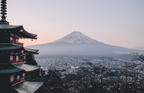 Shrine and Mt.Fuji