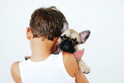 Child and dog