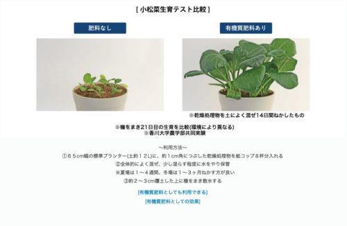 有機質肥料として利用