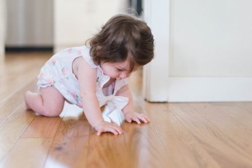 Baby on the floor